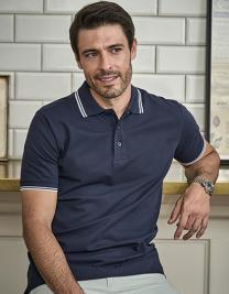 Luxury Stripe Stretch Polo